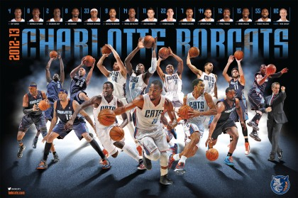 2012-13 Bobcats team poster